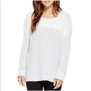 Vince Camuto Color Block Marled Eyelash Sweater